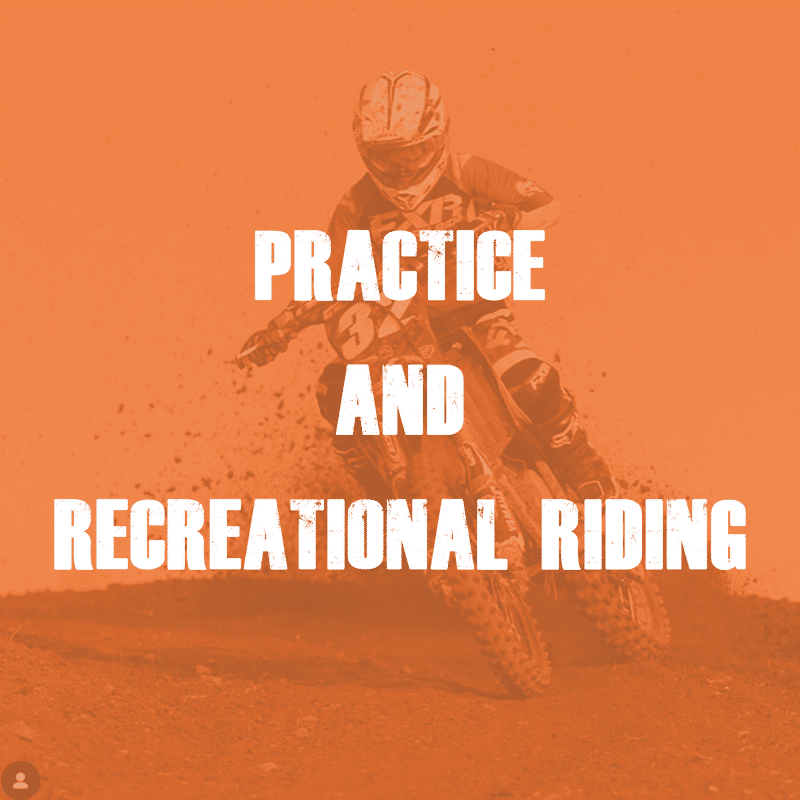 Motocross Practice and Recreational Riding